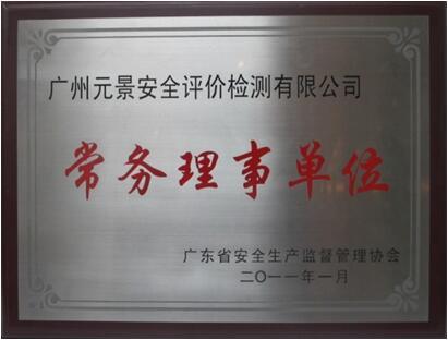 广东省安监局常务理事单位
